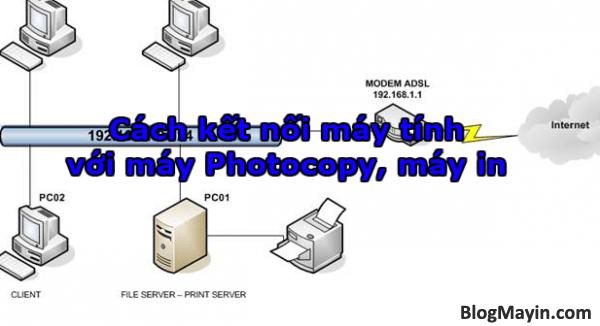 Cách kết nối máy tính với máy Photocopy + Hình 1