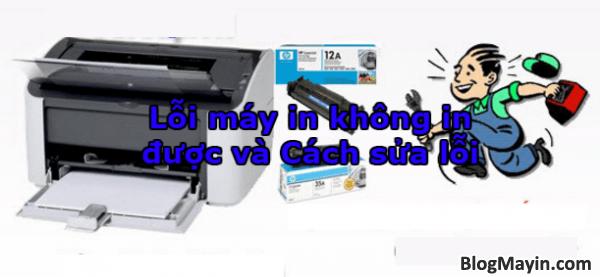 Lỗi máy in không in được và Cách sửa lỗi + Hình 1