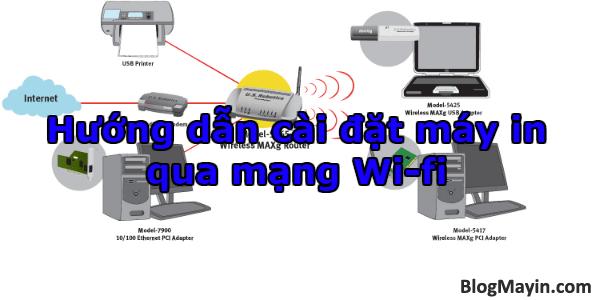 Hướng dẫn cài đặt máy in qua mạng Wi-fi + Hình 1