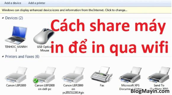Hướng dẫn cài đặt máy in qua mạng Wi-fi + Hình 3