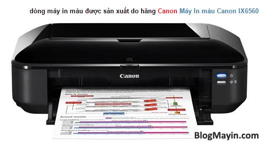 Máy in Canon IX6560 và Bảng mã báo lỗi của nó + Hình 2