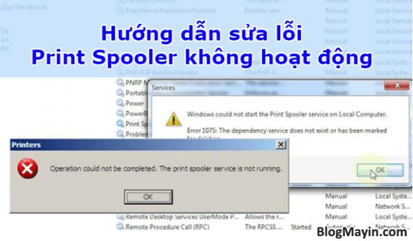 Hướng dẫn sửa lỗi Print Spooler không hoạt động trên máy in + Hình 1