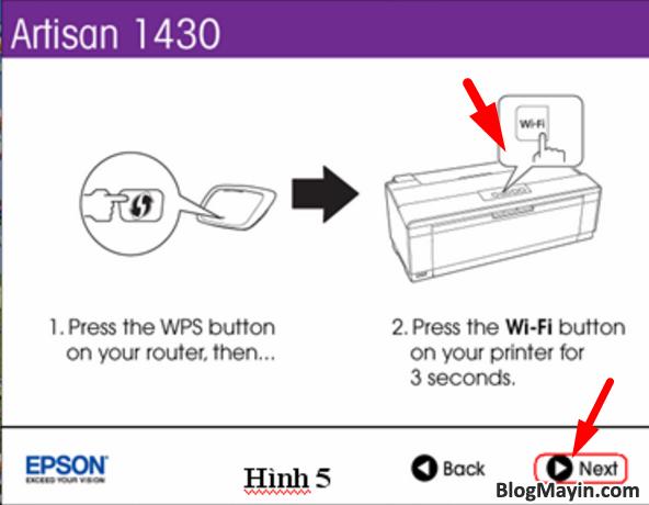 Hướng dẫn cài đặt Wifi máy in Epson Artisan 1430 + Hình 5