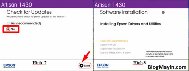 Hướng dẫn cài đặt Wifi máy in Epson Artisan 1430 + Hình 7