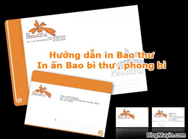 Hướng dẫn in Bao thư - In ấn Bao bì thư - In ấn phong bì + Hình 1