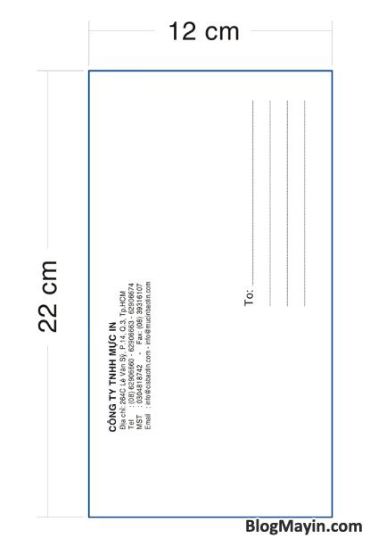 Hướng dẫn in Bao thư - In ấn Bao bì thư - In ấn phong bì + Hình 7