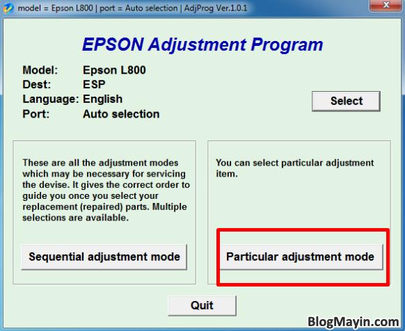 Hướng dẫn bạn cách reset tràn bộ nhớ máy in Epson L800 + Hình 16