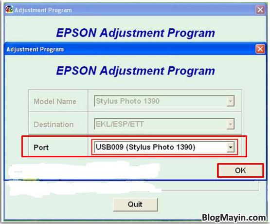 Hướng dẫn Reset Counter tràn bộ đếm máy in phun màu Epson 1390 + Hình 5