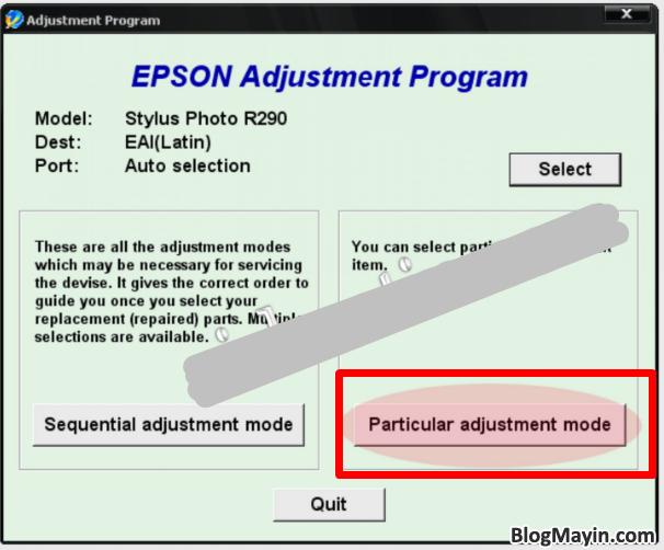 Hướng dẫn Reset Counter tràn bộ đếm máy in phun màu Epson 1390 + Hình 6