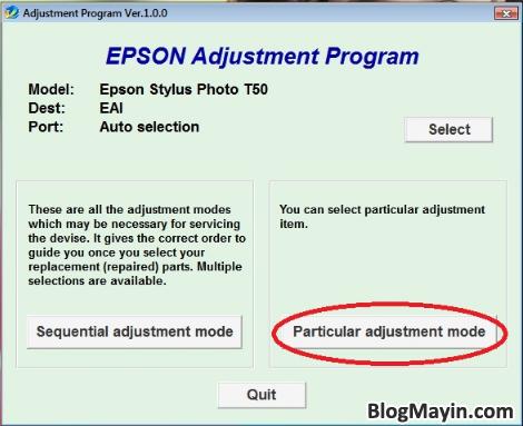 Hướng dẫn Reset Counter máy in Epson T50 và T60 cho người mới + Hình 7
