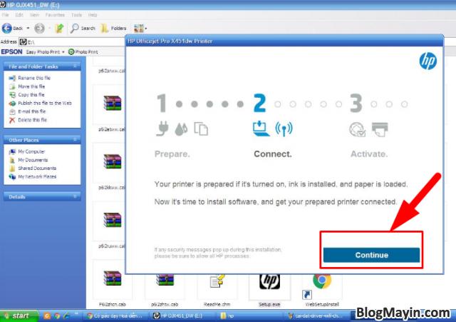 Hướng dẫn cài đặt Driver Wifi cho máy in HP Officejet X451DW + Hình 3