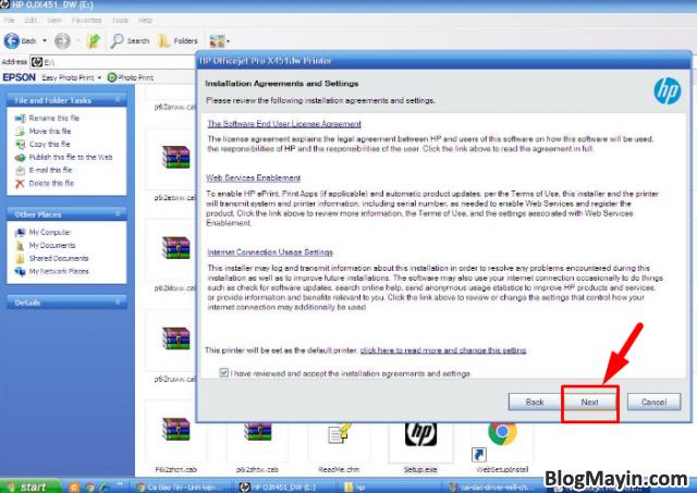 Hướng dẫn cài đặt Driver Wifi cho máy in HP Officejet X451DW + Hình 5