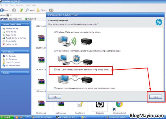 Hướng dẫn cài đặt Driver Wifi cho máy in HP Officejet X451DW + Hình 7