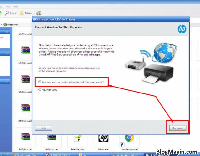 Hướng dẫn cài đặt Driver Wifi cho máy in HP Officejet X451DW + Hình 8