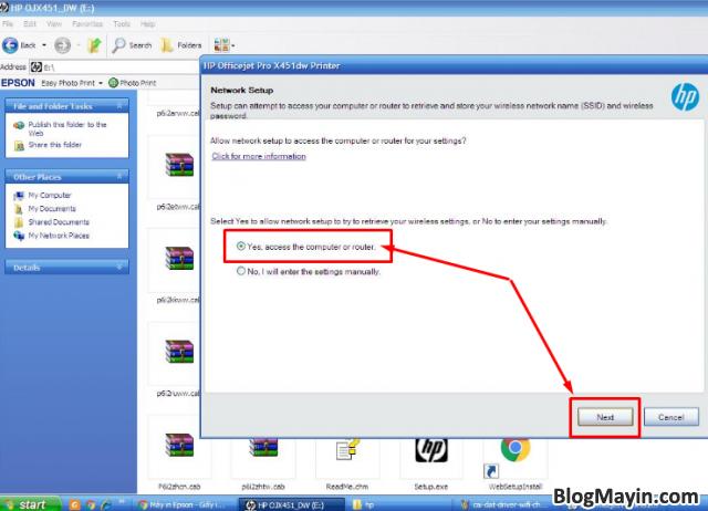 Hướng dẫn cài đặt Driver Wifi cho máy in HP Officejet X451DW + Hình 9