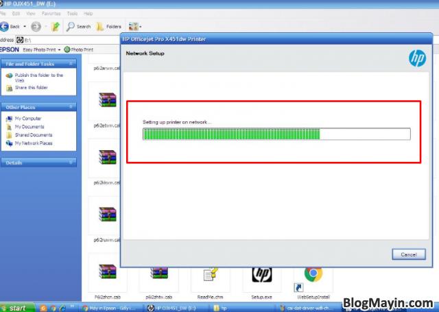 Hướng dẫn cài đặt Driver Wifi cho máy in HP Officejet X451DW + Hình 11