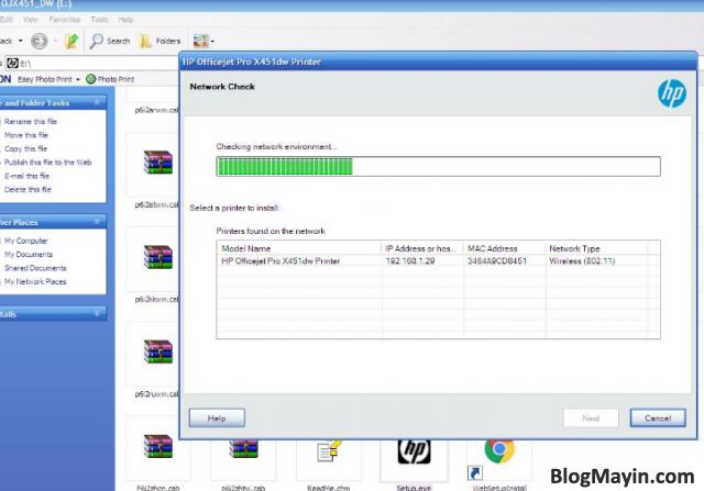 Hướng dẫn cài đặt Driver Wifi cho máy in HP Officejet X451DW + Hình 16