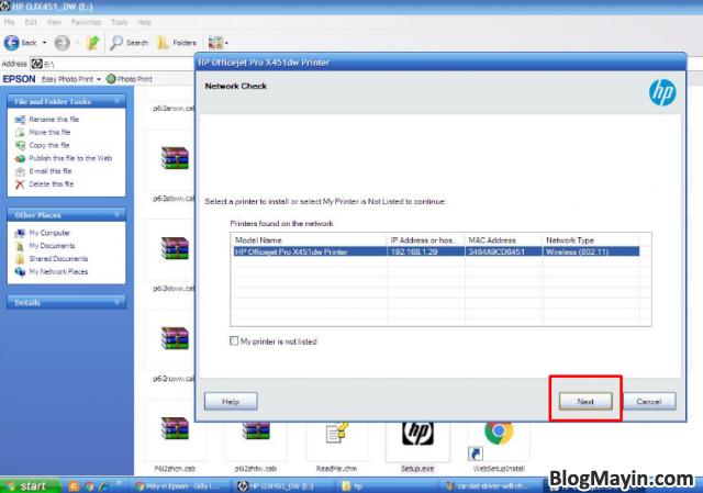 Hướng dẫn cài đặt Driver Wifi cho máy in HP Officejet X451DW + Hình 17