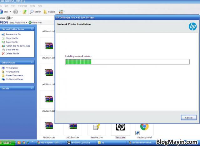 Hướng dẫn cài đặt Driver Wifi cho máy in HP Officejet X451DW + Hình 18