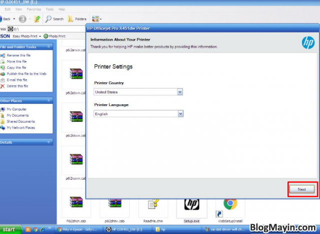 Hướng dẫn cài đặt Driver Wifi cho máy in HP Officejet X451DW + Hình 19