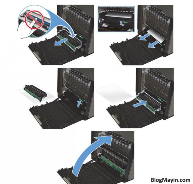 Sửa lỗi kẹt giấy máy in phun siêu tốc HP Officejet Pro X451DW + Hình 6