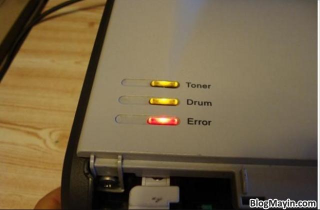 ướng dẫn nhận biết lỗi máy in thông qua tín hiệu đèn báo + Hình 5