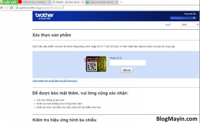 Hướng dẫn kiểm tra mực máy in Brother chính hãng + Hình 7