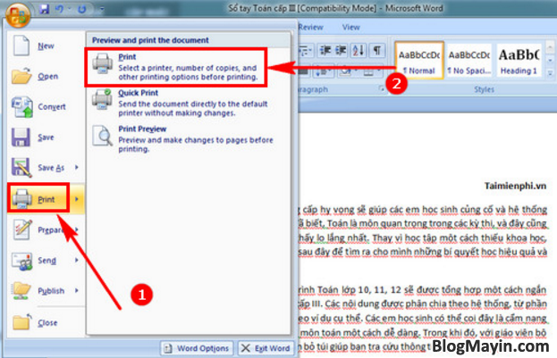 Hướng dẫn bạn cách in giấy A4 thành 2 tờ giấy A5 trong Excel, Word + Hình 5