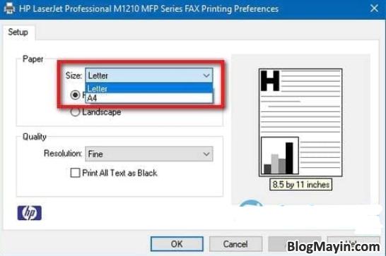 Hướng dẫn bạn cách chỉnh sửa khổ giấy trong máy in + Hình 8